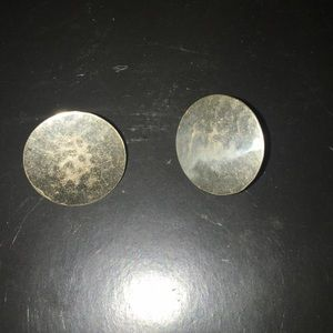 Sterling marked 925 earrings circles post backs